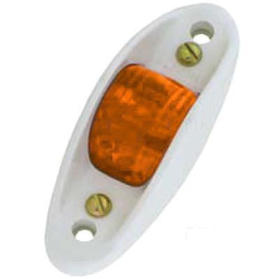 Arrow A059-00-712  Amber Plastic Armored Marker Light - Flush Mount,  4 C.P. Bulb. - Levine Auto and Truck Lighting