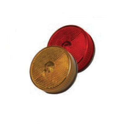 Arrow A067-06-112 Amber 2-1/2 Round Marker Light, Stud Mount