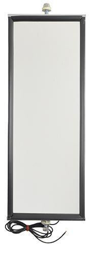 "Grote 16063 West Coast Mirror With Clearance Light- Stainless Steel w/Light 6""x16"""