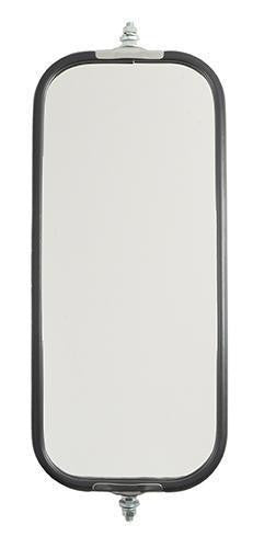 Grote 16093 OEM Style Flat Ribbed Back West Coast Mirror- Stainless Steel