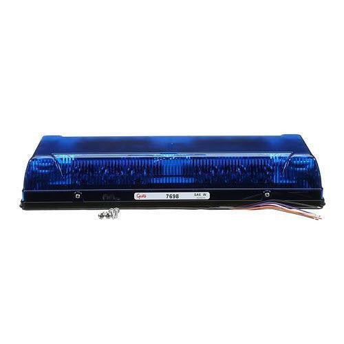 "Grote 76985 Blue 17"" Low-Profile LED Mini Lightbar, Permanent Mount - Levine Auto and Truck Lighting"