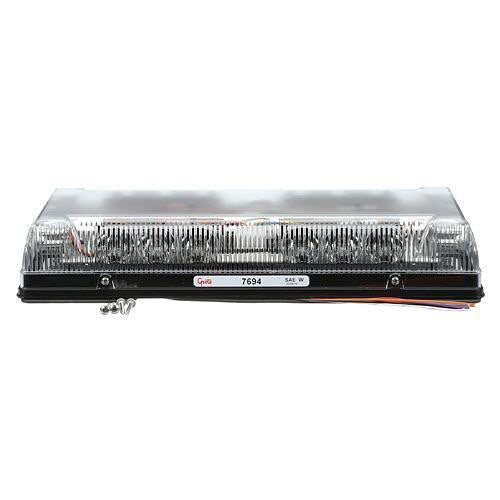 "Grote 76943 Yellow, Clear Lens 17"" Low-Profile LED Mini Lightbar, Permanent Mount - Levine Auto and Truck Lighting"