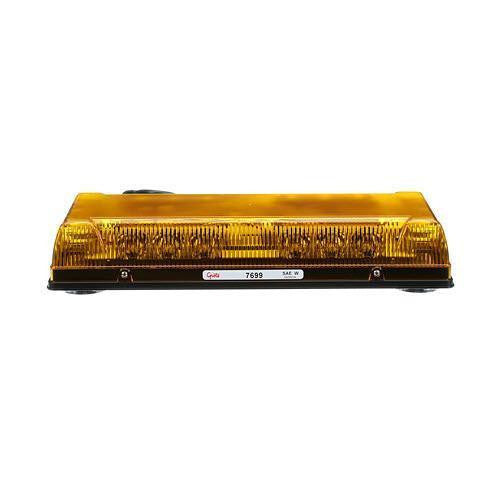 "Grote 76993 Yellow 17"" Low-Profile LED Mini Lightbar, Magent Mount with Cigarette Lighter Adapter - Levine Auto and Truck Lighting"
