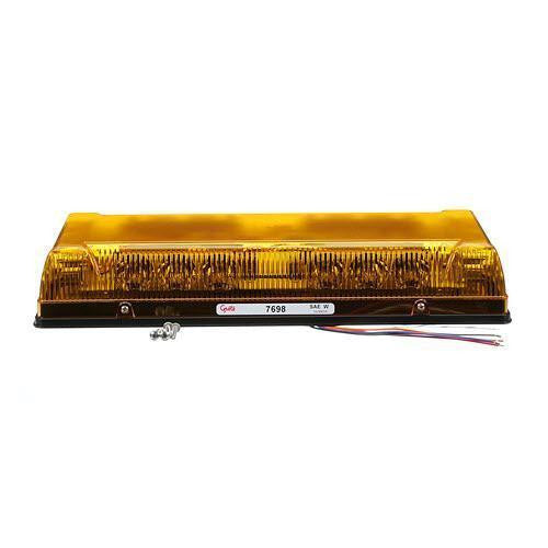 "Grote 76983 Yellow 17"" Low-Profile LED Mini Lightbar, Permanent Mount - Levine Auto and Truck Lighting"