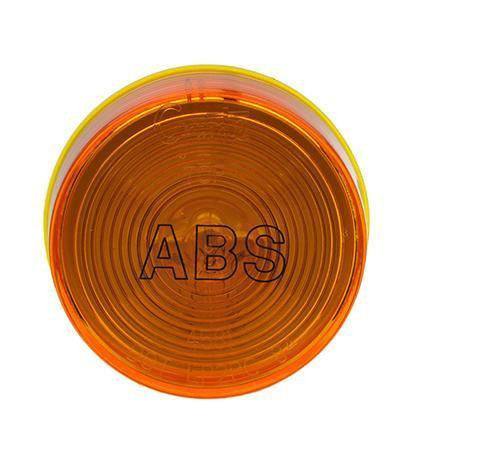 "Grote 78343 Yellow ABS Optic Lens, 2 1/2"" Round Clearance Marker Light - Levine Auto and Truck Lighting"