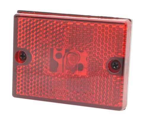 Grote 46982-5 Red Rectangular Submersible Clearance/Marker with Built in Reflector