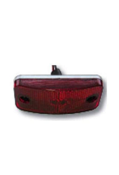 "Arrow A086-00-722  Red Marker Light, Reflex Lens, White Base,  Twist Lock w/ 7"" Wire Leads. - Levine Auto and Truck Lighting"