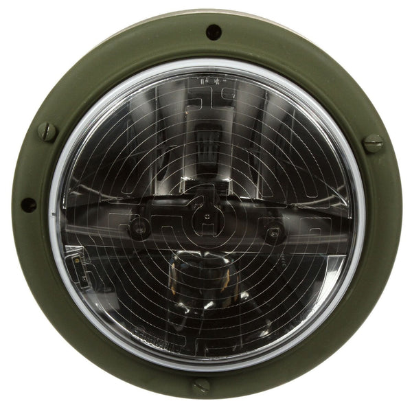 Truck-Lite 07772 Military LED Headlamp w/ Heated Lens, Green Bucket, Long Mount 12v/24v, Military LED Headlamp, Truck-Lite