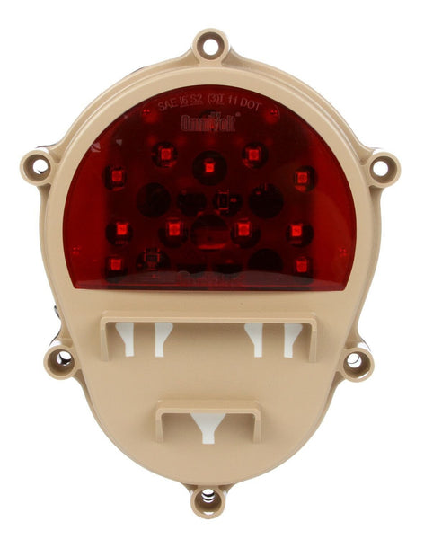 Truck-Lite 07358 LED Military Light Tan Rear Composite Lamp w/o Bucket