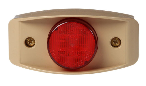 Truck-Lite 07176 Military LED Lights Red Marker Lamp w/ Tan Bracket