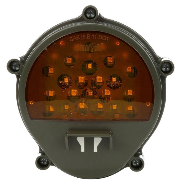Truck-Lite 07241 Green Military Front LED Composite Lamp w/o Bucket