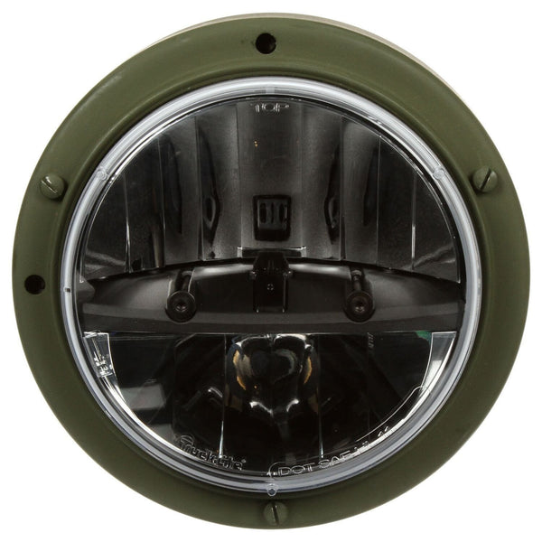 Truck-Lite 07372A Military LED Headlamp w/ Green Bucket, Long Mount 12v/24v, Military LED Headlamp, Truck-Lite