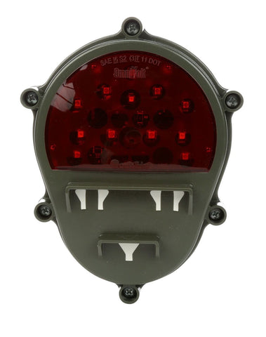 Truck-Lite 07411 Military Rear RED LED Green Composite Thin Lamp w/Bucket