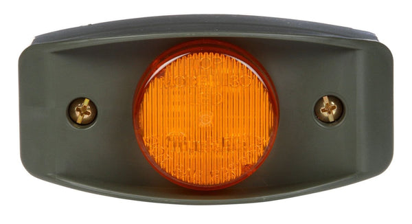 Truck-Lite 07183 Military LED Yellow Marker Lamp w/ Green Bracket, Military Marker Clearance Light, Truck-Lite