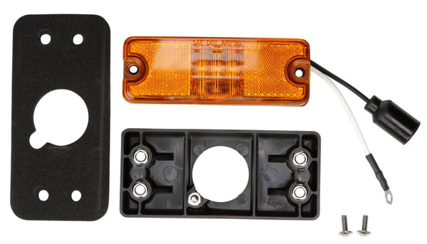 Truck-Lite 18087Y MILITARY LED, Yellow Lamp w/ Black Bracket, Military Marker Clearance Light, Truck-Lite
