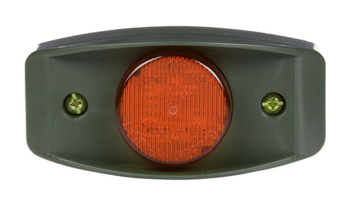 Truck-Lite 07184 Military LED Red Marker Lamp w/ Green Bracket, Military Marker Clearance Light, Truck-Lite
