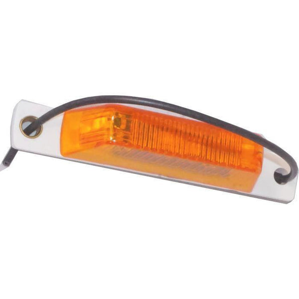Arrow A075-00-712 Amber B52 PC-rated Thinline LED Marker Light w/ Pigtail