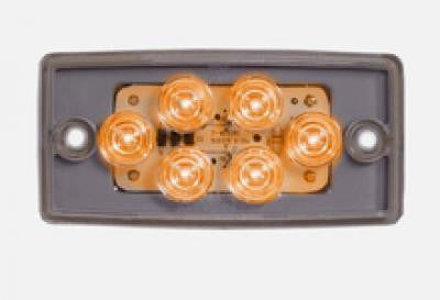 Maxxima M20361YCL Amber 6 LED Clear Lens Flush Mount Cab Marker