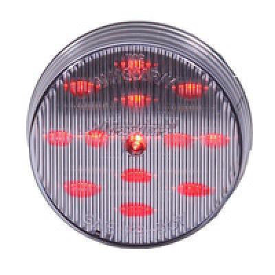 "Maxxima M11300RCL Clear/Red 2.5"" LED Round Clearance Marker Light"
