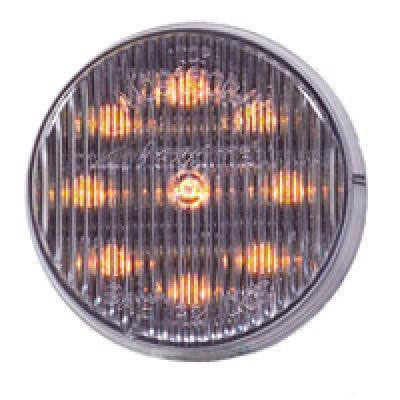 "Maxxima M09100YCL Clear/Amber 2"" Round LED Clearance Marker Light"