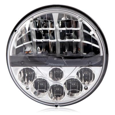 "Maxxima MHLE-07HILO Round 12 LED 7"" Dual Beam Head Lamp 12/24 VDC"