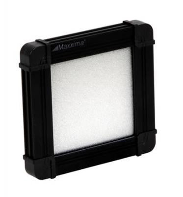 "Maxxima M84414-BWW Wafer Thin Warm White LED 3.4"" X 3.2"" Flat Panel Interior Light w/ Black Housing"