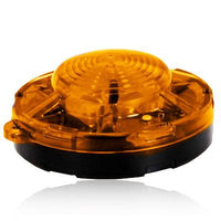 "Maxxima SDL-35Y Amber 3.50"" Round LED Emergency Warning Flasher Uses 3 AAA"