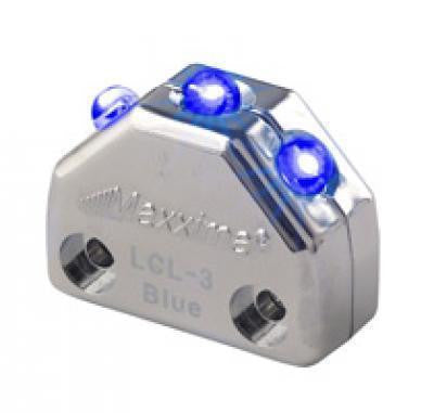 Maxxima LCL-3BL Blue 3 LED Chrome Micro Interior Courtesy Light