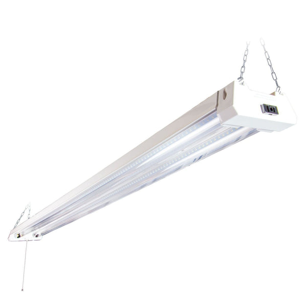 Maxxima 4 ft LED Shop Light Fixture Link able Clear Lens w/4800 Lumens