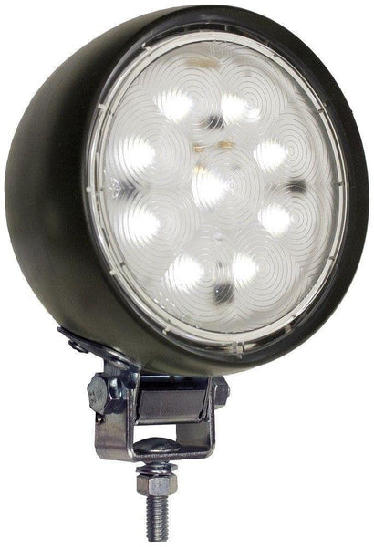 Peterson 907 Round Aux LED Work Light, Rubber Hosing Pedestal Mount