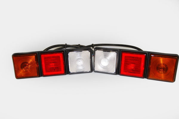 Rubbolite 8003 LEFT and Rubbolite 8002 RIGHT 12V Rear Lamp Modules