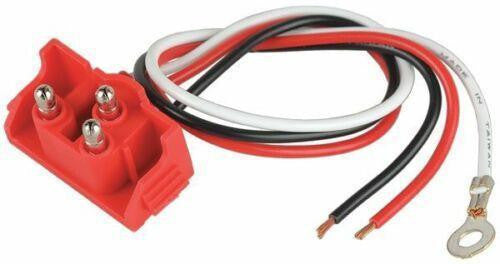 "Maxxima M50900 Right Angle 3-Pin Stop Tail Turn Plug 10"" Leads"