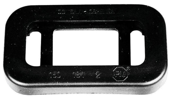 Peterson B150-181 Black Rectangular Open Back Mounting Grommet