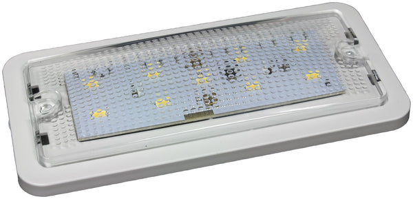 "Peterson 368 White, Stripped Leads Great White® Rectangular LED Interior/Dome Light 5.8"" x 2.8"""