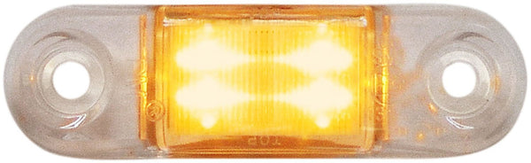Peterson 1268A-MTC Amber w/ Clear Lens Mid-Turn Piranha® LED Sealed Compact Side Marker/Outline Light