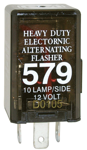 Peterson 579 3-Prong Alternating, 10-Lamp Electronic Flasher, 12 Volts