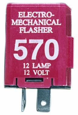 Peterson 570 2-Prong 12-Lamp Electro-Mechanical Flasher, 12 Volt