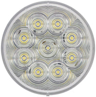 "Peterson 1217C-9 Clear, Grommet Mount LumenX®  4"" Round LED Back-Up Light, AMP - Levine Auto and Truck Lighting"