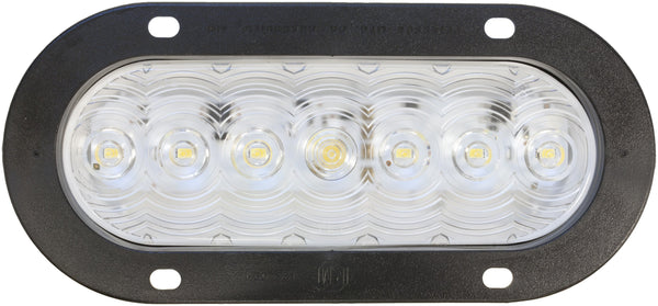 Peterson 822KC-7 LumenX® Clear Oval LED Back-Up Light, PL3 Flange Mount Kit