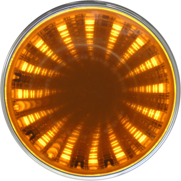 "Peterson M274A Amber 2"" Round LED Auxiliary Tunnel Lights w/3D Illusion"
