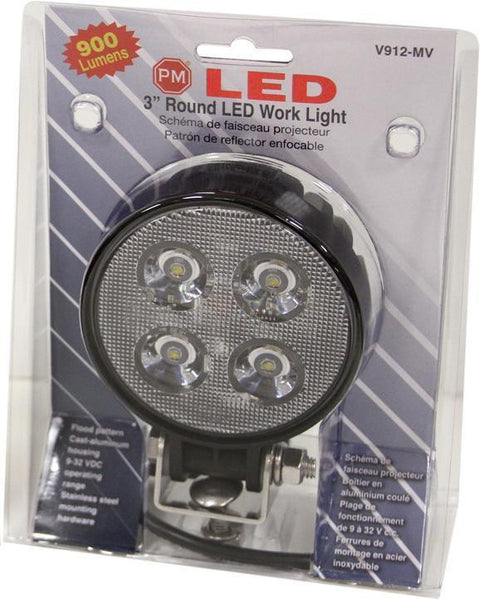 "Peterson V912-MV 3"" Round Great White® LED Work Light"