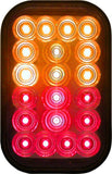 Peterson 850A-R-SW Amber/Red Combination Piranha® LED Stop, Rear Turn & Tail Light