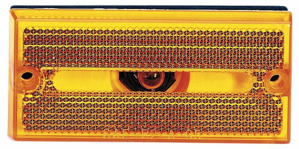 Peterson V132A Amber Rectangular Clearance/Side Marker Light w/Reflex