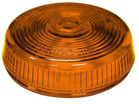 Peterson 100-15A Amber Round Clearance/Side Marker Replacement Lens - Levine Auto and Truck Lighting