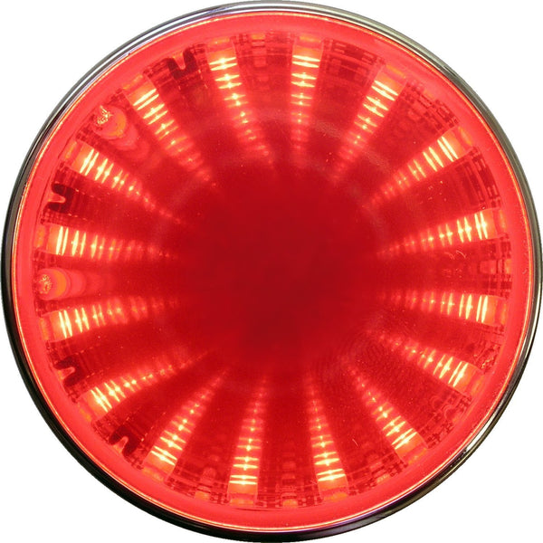 "Peterson M272R Red 2.5"" Round LED Auxiliary Tunnel Light w/3D Illusion"