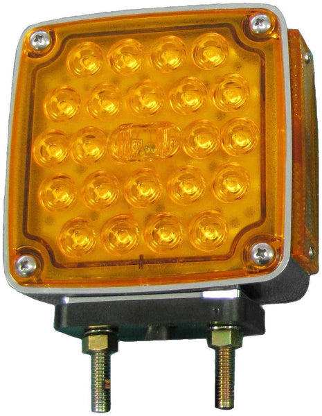 Peterson V327L Amber/Red Roadside LED Double-Face Park & Turn Light w/ Side Marker