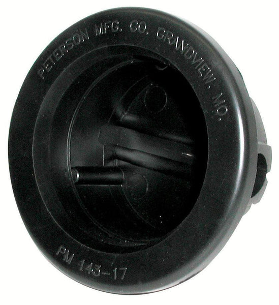 "Peterson B143-17 Black 2 1/ 2"" Round Closed Back Grommet"