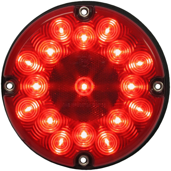 "Peterson 717R Red 7"" LED Bus & Transit Stop/Turn/Tail Light"
