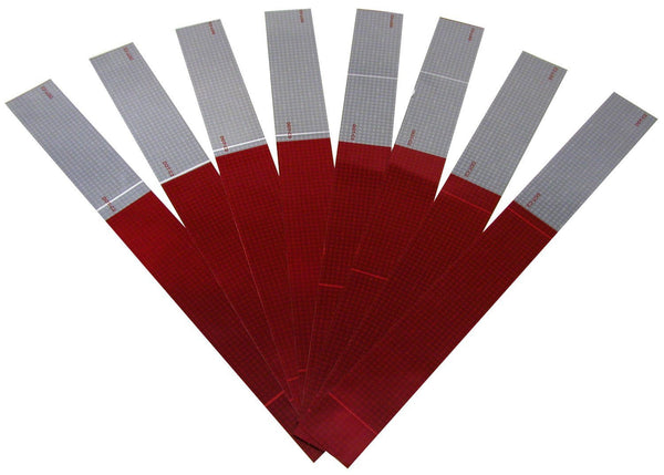 "Peterson 465K Red/White-8 Strip 2"" Reflective Marking Tape Kit"