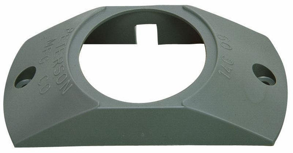 "Peterson 146-09 BRACKET SURFACE-MOUNT ACCEPTS 2"" LIGHTS GRAY 4.8125""X1"""